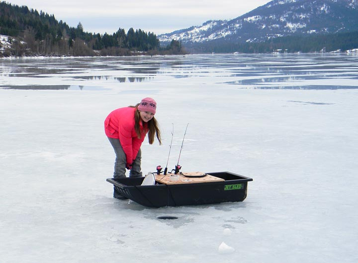 Ice fishing in the panhandle idaho fish and game for Ice fishing games free