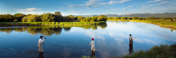 Fly fishing as a family