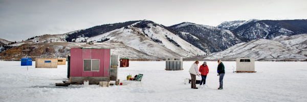 Icefishing at Mackay Reservoir