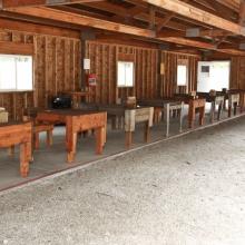 bench line angle Farragut Range wide shot