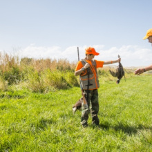 Mentor and young hunter have success during 1st Annual Youth Pheasant Hunt at C.J. Strike WMA