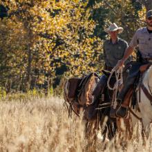 Backcountry officers on horseback / Photo by Glenn Oakley