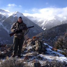 Don Coulter hunting elk medium shot 2013
