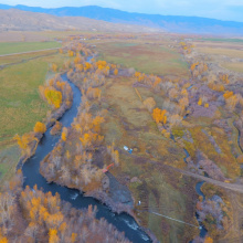 Salmon habitat restoration project on the Eagle Valley Ranch near Salmon, Idaho