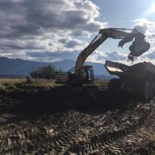 excavating stream