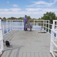 Fishing from fishing dock at Hagerman WMA 2018