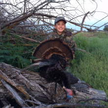 boy with his turkey