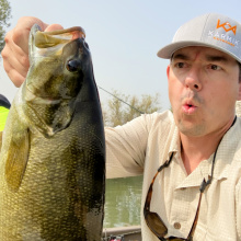 Smallmouth Bass and Angler