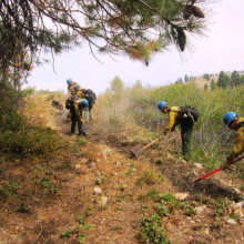Prescribed fire preparation, Boise National Forest