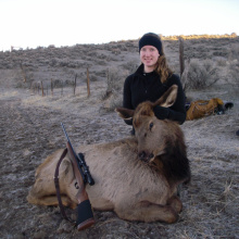girl with her cow elk January 2104