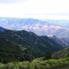 Craig Mountain Wildlife Management Area WMA mountains wide shot April 2000