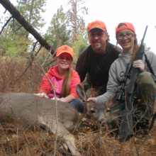 Alexandra Beus & family hunting in 2016