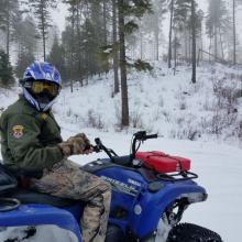 Idaho Conservation Officer winter patrol