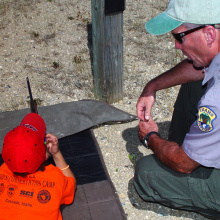 Youth Conservation Camp, shooting at range