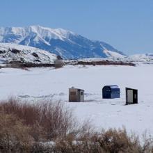 Ice Fishing Mackay Reservoir