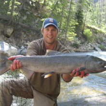 Messner with his spring chinook salmon July 2014