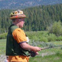 boy fishing on free fishing day June 2003