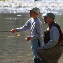 father and son fishing September 2007