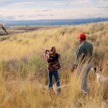 pheasant hunting, youth with mentor